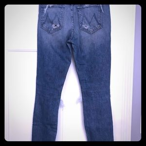 MOTHER Candace Swanepoel Straight Leg Jeans sz 26